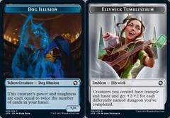 Dog Illusion Token // Emblem - Ellywick Tumblestrum - Foil