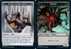 Emblem - Lolth, Spider Queen // Spider Token - Foil