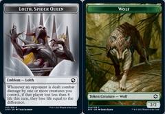Emblem - Lolth, Spider Queen // Wolf Token - Foil