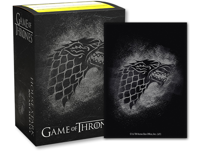 Dragon Shield: Game of Thrones House Stark Sleeves (100 ct.)