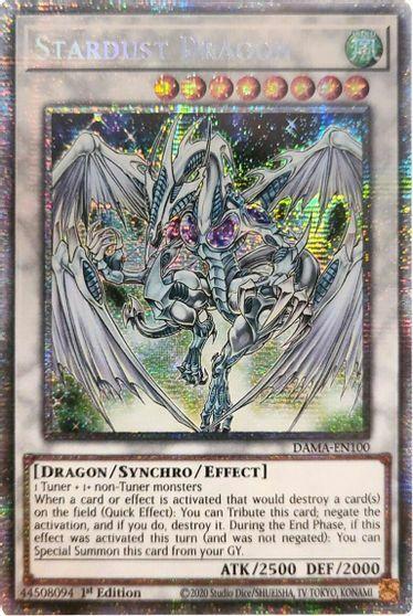 Stardust Dragon - DAMA-EN100 - Starlight Rare - 1st Edition