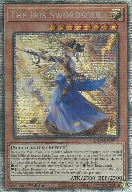 The Iris Swordsoul - DAMA-EN009 - Starlight Rare - 1st Edition