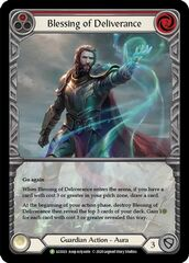 Blessing of Deliverance (Red) (LGS023) - Rainbow Foil (Extended Art)