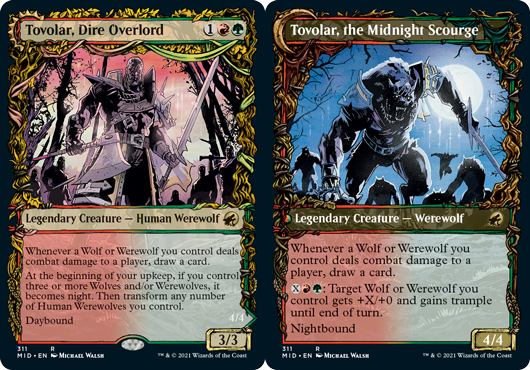 Tovolar, Dire Overlord // Tovolar, the Midnight Scourge - Showcase