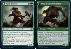Burly Breaker // Dire-Strain Demolisher - Foil