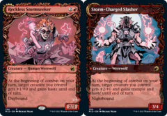 Reckless Stormseeker // Storm-Charged Slasher - Foil - Showcase