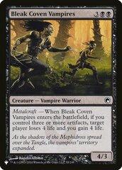 Bleak Coven Vampires - The List