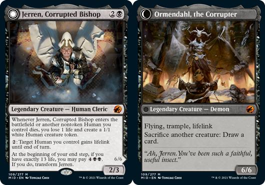 Jerren, Corrupted Bishop // Ormendahl, the Corrupter - Foil