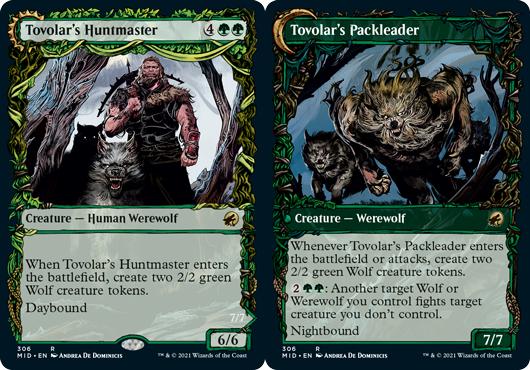 Tovolars Huntmaster // Tovolars Packleader - Foil - Showcase
