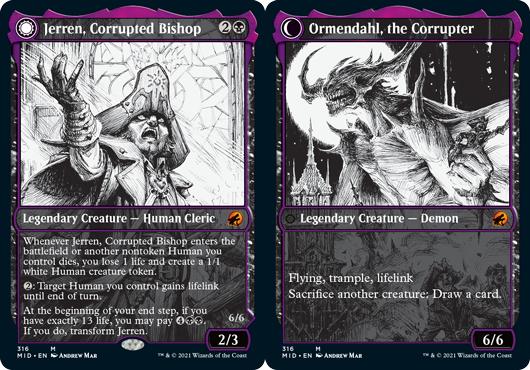 Jerren, Corrupted Bishop // Ormendahl, the Corrupter - Foil - Showcase