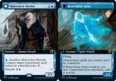 Malevolent Hermit // Benevolent Geist - Foil - Extended Art