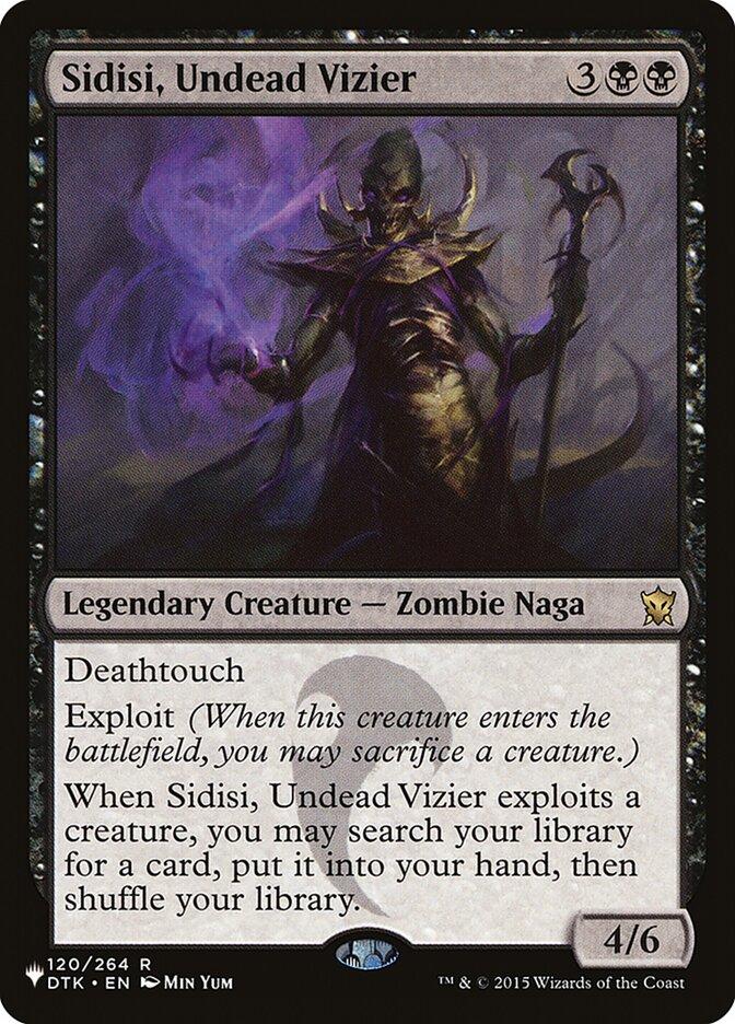 Sidisi, Undead Vizier - The List