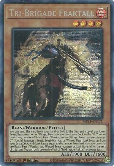 Tri-Brigade Fraktall - MP21-EN171 - Prismatic Secret Rare - 1st Edition