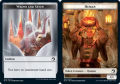 Emblem - Wrenn // Human Token - Foil