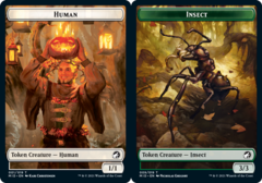 Human Token // Insect Token - Foil