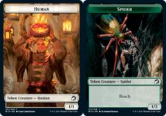 Human Token // Spider Token - Foil
