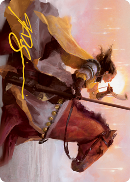 Sunrise Cavalier Art Card - Gold-Stamped Signature
