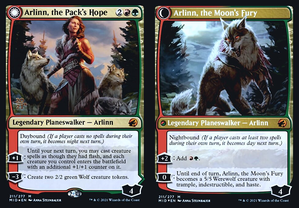 Arlinn, the Packs Hope // Arlinn, the Moons Fury - Foil - Prerelease Promo