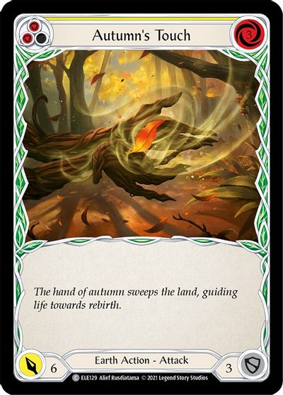 Autumns Touch (Yellow) - Rainbow Foil - 1st Edition