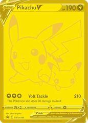 Pikachu V SWSH145 Gold Promo - Celebrations Ultra-Premium Collection