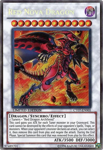 Red Nova Dragon - CT07-EN005 - Secret Rare - Limited Edition - Promo