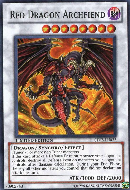 Red Dragon Archfiend - CT07-EN025 - Super Rare - Limited Edition - Promo