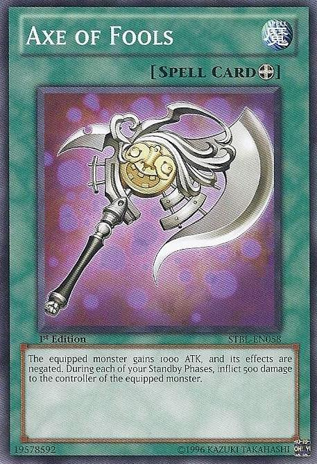 Axe of Fools - STBL-EN058 - Common - 1st Edition