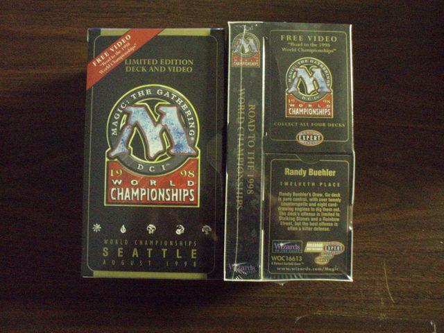 1998 Randy Buehler World Champ Deck w/VHS