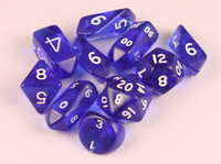 10 piece Hybrid Translucent - Blue