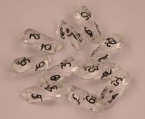 Crystal d6 10 pc set - clear