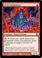 Grim Lavamancer - Foil on Channel Fireball