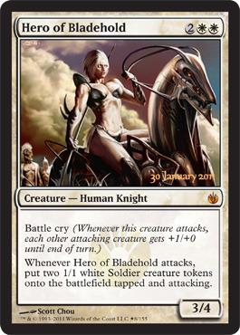 Hero of Bladehold - Foil - Prerelease Promo