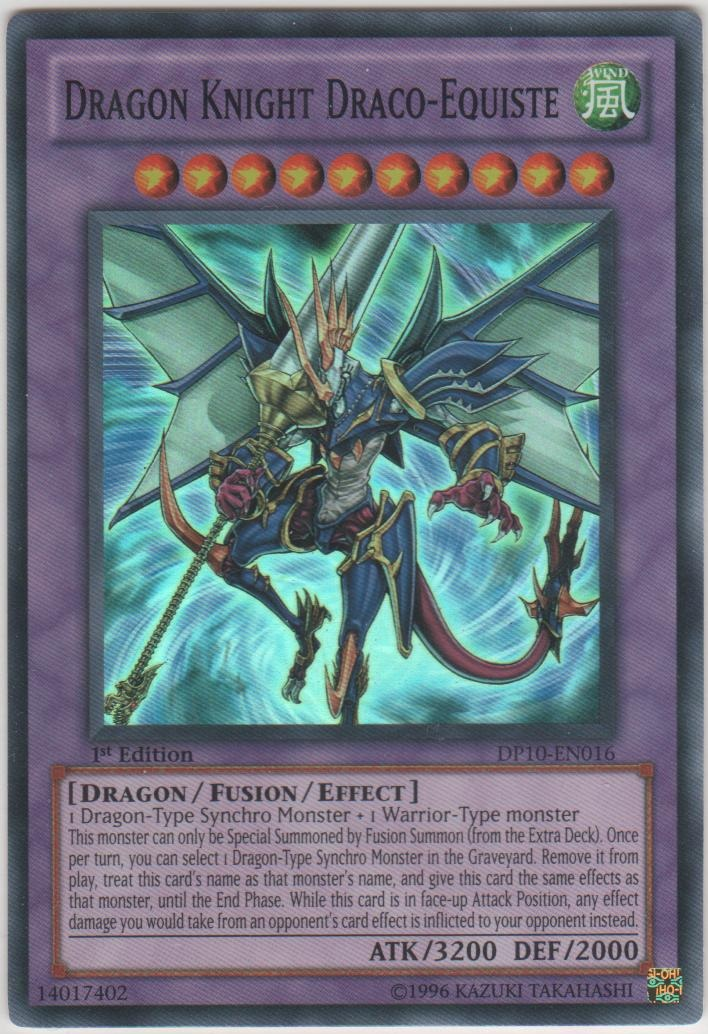 Dragon Knight Draco-Equiste - DP10-EN016 - Super Rare - 1st Edition