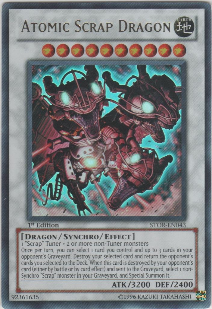 Atomic Scrap Dragon - STOR-EN043 - Ultra Rare - 1st Edition