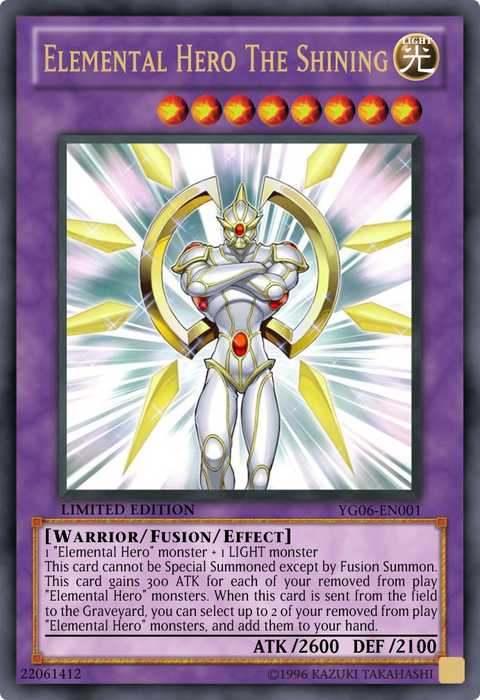 Elemental Hero The Shining - YG06-EN001 - Ultra Rare - Limited Edition