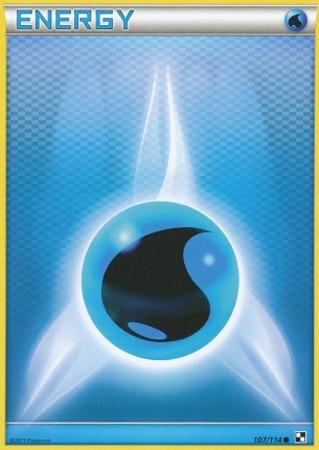 Water Energy Common Pokemon Card BW Base 107//114