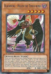Blackwing - Hillen the Tengu-wind - EXVC-EN008 - Super Rare - 1st Edition