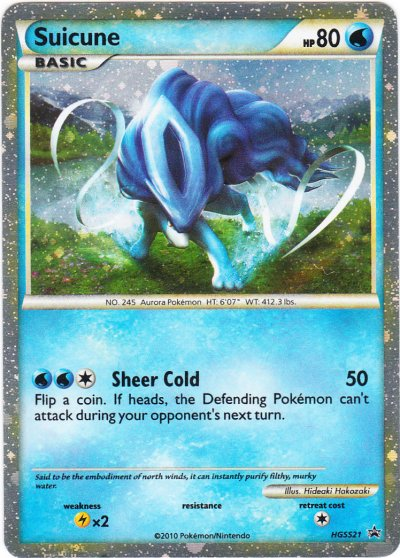 Suicune HGSS21 Cosmos Holo Promo - 2010 Collector's Tins ...