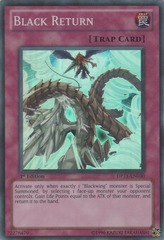 Black Return - DP11-EN030 - Super Rare - 1st Edition on Channel Fireball