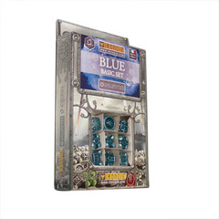 IronDie 9-Dice Starter Pack - Blue