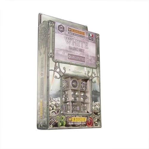 IronDie 9-Dice Starter Pack - White