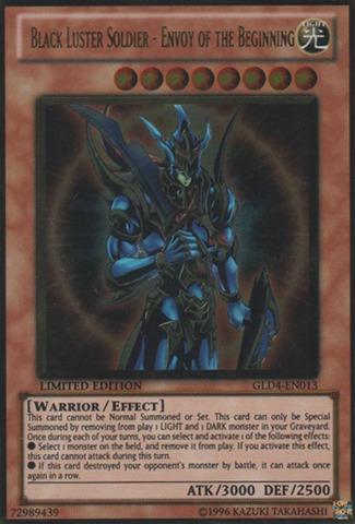 Black Luster Soldier - Envoy of the Beginning - GLD4-EN013 - Gold Rare - Limited Edition