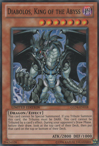 Diabolos, King of the Abyss - GLD4-EN018 - Common - Limited Edition