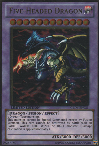 Common GLD4-EN014 EX Limited Edition  YuGiOh White-Horned Dragon 1x