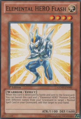 Elemental HERO Flash - GENF-EN090 - Common - 1st Edition