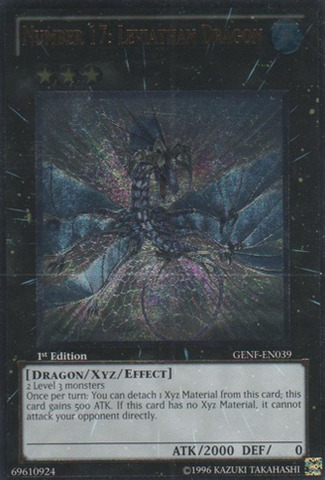 Number 17: Leviathan Dragon - GENF-EN039 - Ultimate Rare - 1st Edition