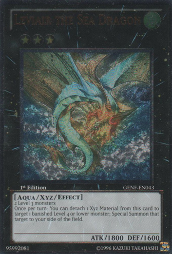 Leviair the Sea Dragon - GENF-EN043 - Ultimate Rare - 1st Edition