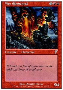 Fire Elemental - Foil