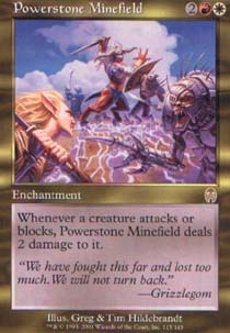 WORN POWERSTONE X4 Commander 2014 Magic MTG MINT CARD