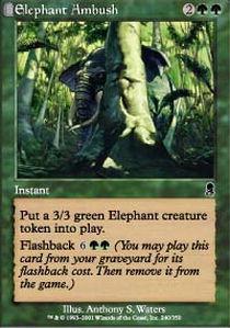 Elephant Ambush - Foil